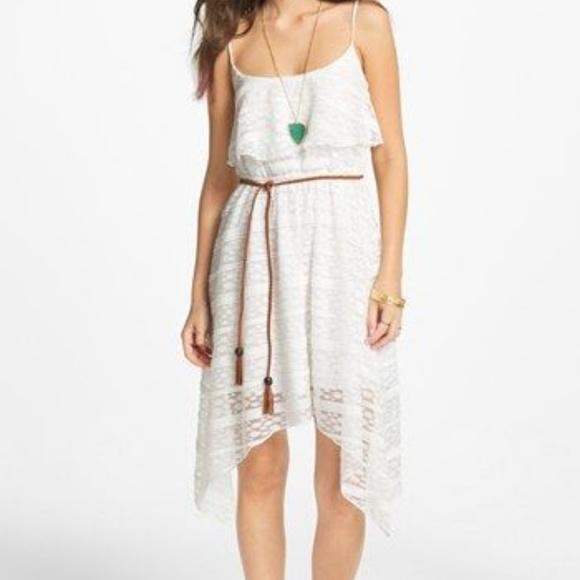 Trixxi Dresses Perfect Asymmetrical Hilo Crocheted Lace Sundress
